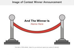Image Of Contest Winner Announcement