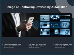 Image Of Controlling Devices By Automation