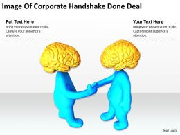 Image Of Corporate Handshake Done Deal Ppt Graphics Icons PowerPoint