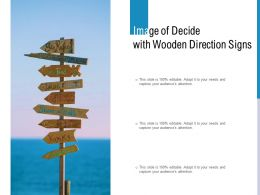 Image Of Decide With Wooden Direction Signs