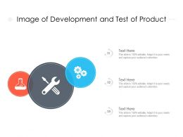 Image Of Development And Test Of Product