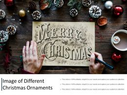 Image Of Different Christmas Ornaments