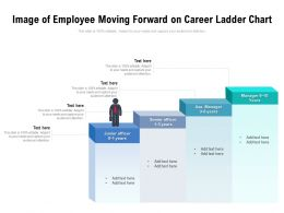 Image Of Employee Moving Forward On Career Ladder Chart