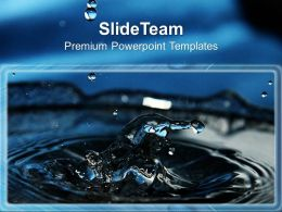 Image Of Falling Water Drops Powerpoint Templates Ppt Backgrounds For Slides 0213