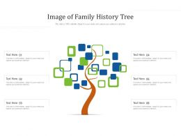 Image Of Family History Tree