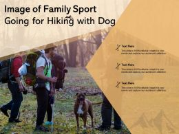 Image Of Family Sport Going For Hiking With Dog