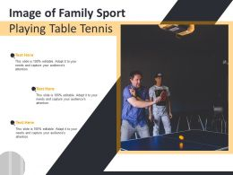Image Of Family Sport Playing Table Tennis