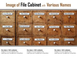 Image Of File Cabinet With Various Names