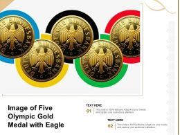 Image Of Five Olympic Gold Medal With Eagle