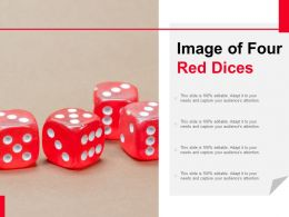 Image Of Four Red Dices