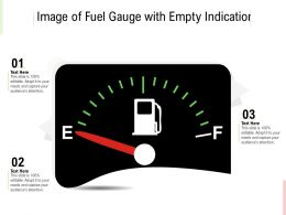 Image Of Fuel Gauge With Empty Indication