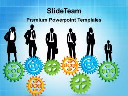 Image Of Gears Powerpoint Templates Business Ppt Slides