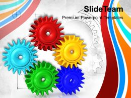 Image Of Gears Powerpoint Templates Communication Marketing Ppt Design Slides