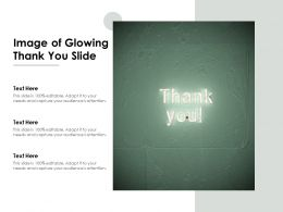 Image Of Glowing Thank You Slide