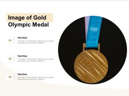 Image Of Gold Olympic Medal