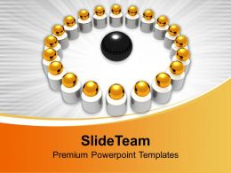 Image Of Golden Balls In Circle PowerPoint Templates PPT Themes And Graphics 0213