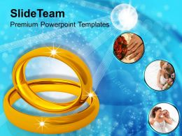 Image Of Golden Wedding Rings Powerpoint Templates Ppt Themes And Graphics 0213
