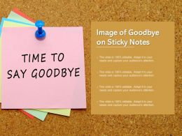 Image Of Goodbye On Sticky Notes