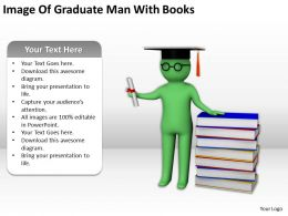Image Of Graduate Man With Books Ppt Graphics Icons PowerPoint