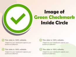 Image Of Green Checkmark Inside Circle