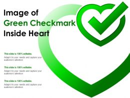 Image Of Green Checkmark Inside Heart