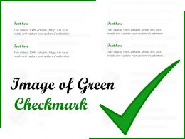 Image Of Green Checkmark