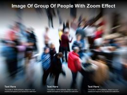 Image Of Group Of People With Zoom Effect