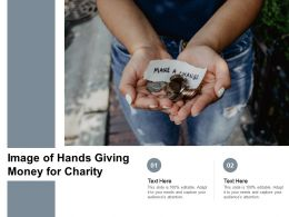 Image Of Hands Giving Money For Charity