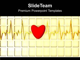 Image Of Heart Beat With A Heart Powerpoint Templates Ppt Themes And Graphics 0113