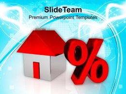 Image Of House And Percent Symbol Powerpoint Templates PPT Themes And Graphics 0113