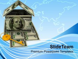 Image Of House Key And Money Home Powerpoint Templates Ppt Themes And Graphics