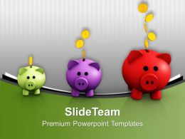 Image Of Increasing Piggy Banks Powerpoint Templates Ppt Themes And Graphics 0213