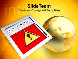 Image Of Internet Browser With Globe Business Powerpoint Templates Ppt Themes And Graphics 0213