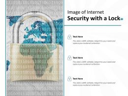 Image Of Internet Security With A Lock