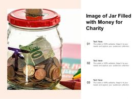 Image Of Jar Filled With Money For Charity