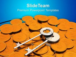 Image Of Keys And Coins Powerpoint Templates Ppt Themes And Graphics 0213