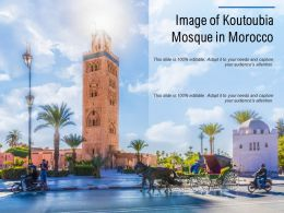 Image Of Koutoubia Mosque In Morocco