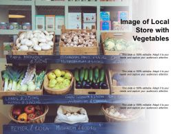 Image Of Local Store With Vegetables