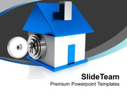 Image Of Locked House PowerPoint Templates PPT Themes And Graphics 0213