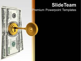 Image Of Locked Money PowerPoint Templates PPT Themes And Graphics 0213