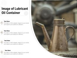 Image Of Lubricant Oil Container