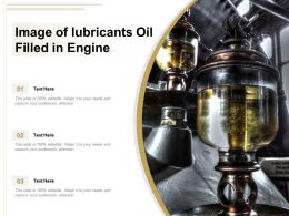Image Of Lubricants Oil Filled In Engine