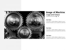 Image Of Machine Cogs And Gears