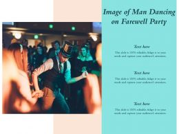 Image Of Man Dancing On Farewell Party