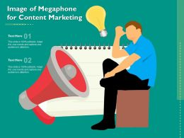 Image Of Megaphone For Content Marketing