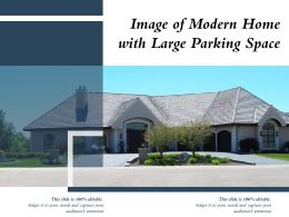 Image Of Modern Home With Large Parking Space