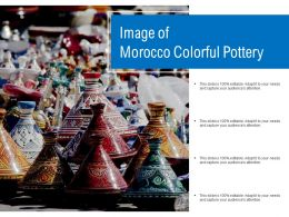 Image Of Morocco Colorful Pottery