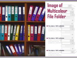 Image Of Multicolour File Folder