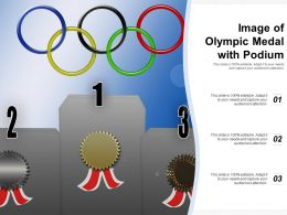 Image Of Olympic Medal With Podium