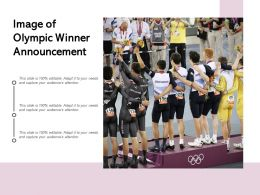Image Of Olympic Winner Announcement